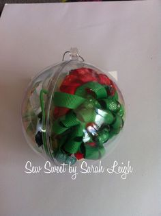 Christmas Baubles filled with hair accessories