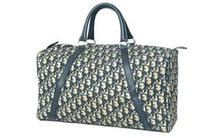 80′s Vintage Auth Christian Dior Trotter Boston Bag