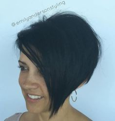 Side Parted Angled Pixie Bob