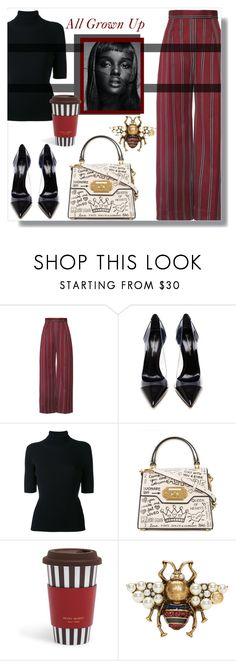 """""""Adulthood"""" by nusongbird ❤ liked on Polyvore featuring Gianvito Rossi, Valentino, Dolce&Gabbana, Thot, Henri Bendel and Gucci"""