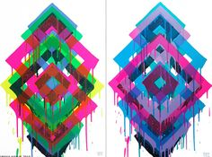Maya Hayuk   Kaleidoscopic Artistry print pattern inspiration