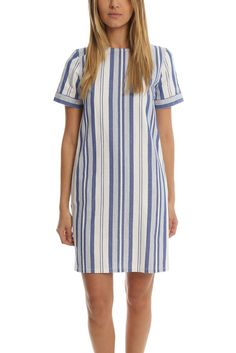 A.P.C. Naxos Dress | Blue&Cream