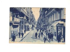 CPA TRES ANIMEE  - BORDEAUX (33) - LA RUE SAINTE CATHERINE -1927- A VOIR TIMBRE