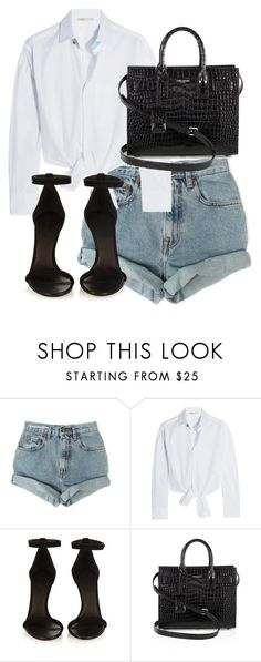 """Untitled #4159"" by theeuropeancloset ❤ liked on Polyvore featuring Levi's, Maje, Isabel Marant and Yves Saint Laurent"