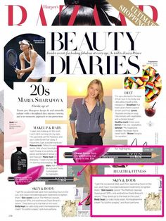 @harpersbazaar featured Maria Sharapova in their 'Beauty Diaries' series and we spot #AvonLuck for Her and our Ultra Luxury Brow Liner!