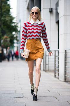 Что носят на Неделе моды в Лондоне: часть 3 (фото 7)