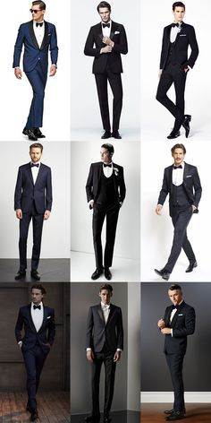 Men's Wedding/Groom Outfit Inspiration Lookbook - Tuxedos and Dinner Jackets
