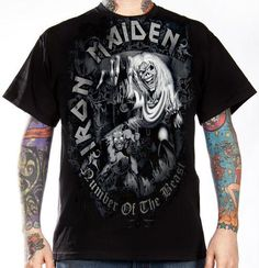 Iron Maiden, T-Shirt, Number Of The Beast Grey
