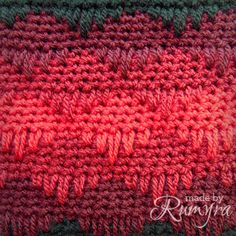 Crochet Pattern Ombre Spike Stitch Tablet Case in by MadeByRumyra