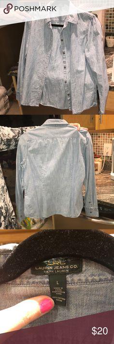 Ralph Lauren denim shirt Good condition Ralph Lauren Tops Button Down Shirts