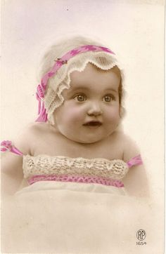 Vintage Real Photo Cute Baby Girl Postcard by sharonfostervintage, $5.00