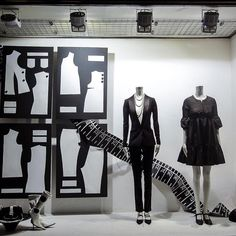 """My problem isn't that I buy too much fabric. My problem is that I shop faster than I sew!"""", pinned by Ton van der Veer Boutique Interior, Shop Interior Design, Fashion Retail Interior, Futuristic Interior, Clothing Displays, Sewing Studio, Store Window Displays, Life Design, Showcase Design"""