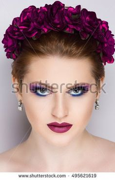 stock-photo-young-beautiful-girl-with-a-fashionable-tiara-flowers-wreath-and-professional-makeup-long-jewelry-495621619.jpg (300×470)