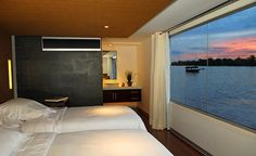 coolest boat ever Amazon South America, Panama, Floating Hotel, Destinations, Amazon River, Cool Boats, Peru Travel, Creature Comforts, Luxury Yachts