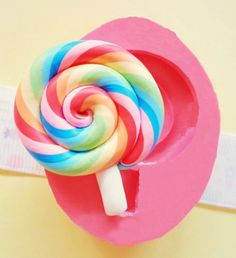40mm Big Lollipop Candy Flexible Silicone Mold  by BeautifulMolds