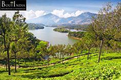 The breathtakingly beautiful Munnar in Kerala has lush green tea plantations, picturesque towns, various Sanctuaries and National Parks.   #Kerala #Munnar #GreenTea #Towns #Parks #Honeymoon