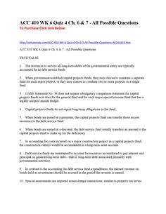 Acc410 wk 6 quiz 4 ch 6 & 7 all possible questions  To Purchase Click Link Below:  http://strtutorials.com/ACC-410-WK-6-Quiz-4-Ch-6-7-All-Possible-Questions-ACC41019.htm