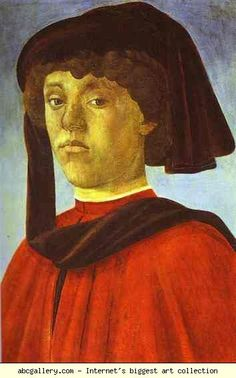 Alessandro Botticelli. Portrait of a Young Man. c.1470-1473. Tempera on panel. Palazzo Pitti, Galleria Palatina, Florence, Italy