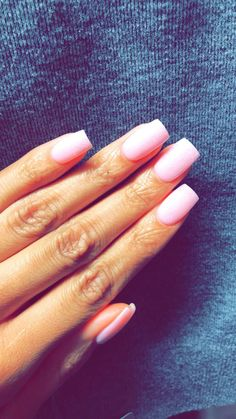 Light Pink Nails Coffin Diamonds