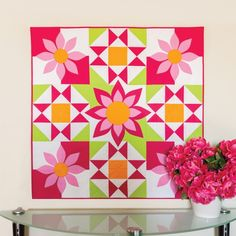 GO! Awesome Blossom Wall Hanging Pattern
