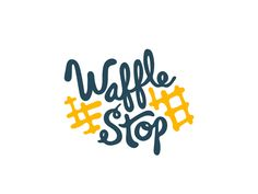 Waffle Stop Branding Logo Branding, Branding Design, Logo Design, Logos, Graphic Design, Waffle Restaurant, Logo Restaurant, Waffles Logo, Pollo Y Waffles
