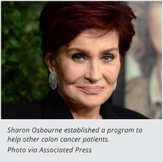 Sharon Osbourne Uses Her Cancer Experience to Help Others.