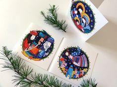 Nativity scene Greeting Card Set. 3 illustrated by BeijosdeAlgodao