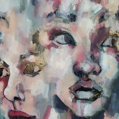 Detail from a larger scale multiple head piece in oils 150x150cm. #fineart #paintings #fashion #contemporaryart #worksinprogress #process #heads #expressive #creative #inspiration #artoftheday #picoftheday #instaart #artistoninstagram http://ift.tt/2es9akz