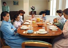 Young Women of the FLDS: Pre-breakfast prayer in Sally Wayman Jeffs Nielsen's house. In the FLDS, arms are crossed over the chest for prayer, and even little children are expected to be silent and still. Photo found here: http://www.nytimes.com/slideshow/2008/07/27/magazine/20080727_FLDS_SLIDESHOW_index.html