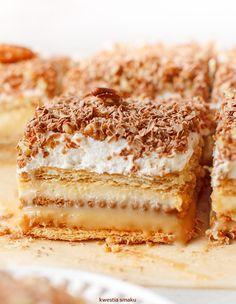 3 Bit - No Bake Graham Cracker Layer Cake Polish Desserts, Polish Recipes, Polish Food, Sweet Recipes, Cake Recipes, Dessert Recipes, Vanilla Pudding Cake, Cake Bars, Pie Dessert