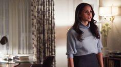 "Meghan Markle stars as Rachel Zane in Suits season 7 episode 6, ""Home to Roost."""