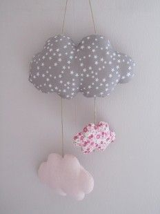 pastel lits b b and mobile nuages on pinterest. Black Bedroom Furniture Sets. Home Design Ideas