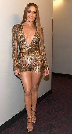 Jennifer Lopez in Elie Saab attends the Latin Grammy Awards. #bestdressed