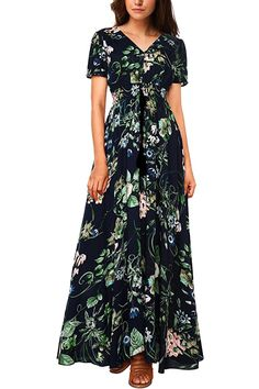 27c4dc95bee Check out our picks for the WAJAT Women s Button Split Tassel Floral Print  Party Beach Maxi Dress from the popular stores ...