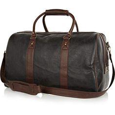 Black contrast varsity holdall - holdalls - bags / wallets - men