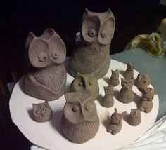 Clay Owl, Pottery Making, Owls, Stuffed Mushrooms, Stuff Mushrooms, Owl, Tawny Owl