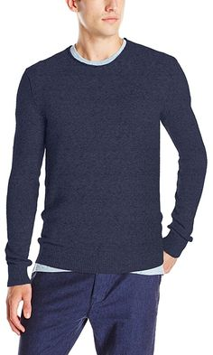 French Connection Men's A16 Alfa Sweater, Marine Blue/Black, X-Large Best Price