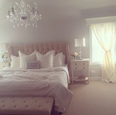 Stunning Romantic Master Bedroom Design Ideas - Page 58 of 149 Dream Rooms, Dream Bedroom, Home Bedroom, Bedroom Decor, Bedroom Ideas, Bedroom Inspiration, Romantic Master Bedroom, Master Bedroom Design, Beautiful Bedrooms
