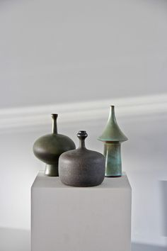 Three stunning vases by Amphora. All made in the early 60's. Perfect condition and signed.