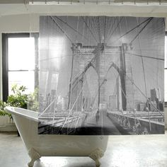 Brooklyn Shower Curtain, $12, now featured on Fab.