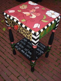 Whimsical Hand Painted Art Furniture | whimsical night table | Flickr - Photo Sharing!