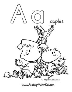 Letter A Coloring Sheets For Preschoolers Alphabet coloring pages
