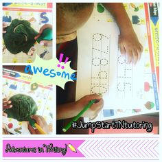This student practiced holding their pencil and forming their letters and numbers correctly. We wrote in play dough and Dr. Jean taught us through music how to write our numbers.✏️🎶 #adventuresinwriting #jumpstarttntutoring #individualizedcurriculum #oneononeinstruction #learningathome #franklintn #brentwoodtn #williamsoncountytn #franklintnhomeschool
