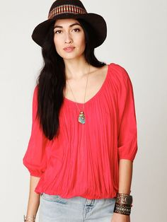 Free People FP ONE City Peasant Blouse, $78.00