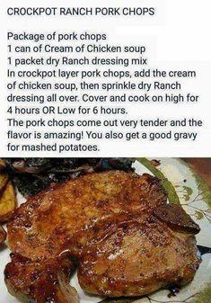 Garlic Butter Juicy Pork Chops Recipe Cooking frog - Crockpot right . - Crockpot - Crockpot Recipes Garlic Butter Juicy Pork Chops Recipe Cooking frog - Crockpot right . Healthy Pork Chops, Juicy Pork Chops, Crock Pot Pork Chops, Easy Pork Chop Recipes, Beef Recipes, Yummy Recipes, Aldi Recipes, Skillet Recipes, Delicious Meals