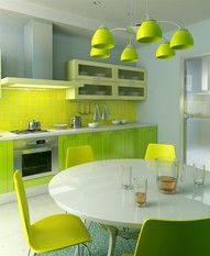 I love green and cooking whats more to love about this kitchen?