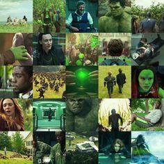 Marvel in green Marvel Movie Posters, Marvel Characters, Marvel Heroes, Marvel Wall Art, Marvel Room, Avengers Art, Avengers Poster, Color In Film, Avengers Coloring