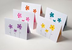 Posies Note Card Set of Five by starflycreations on Etsy, $25.00