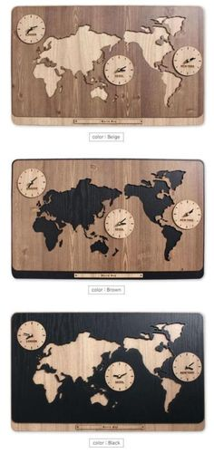 3 in 1 world map clocks modern wall art decoration kitchen living 3 in 1 world map clocks modern wall art decoration kitchen living room publicscrutiny Images