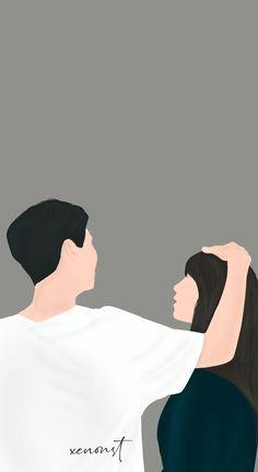 Cute Couple Drawings, Cute Couple Art, Anime Love Couple, Cartoon Girl Drawing, Cartoon Art, Sweet Couple Cartoon, Couple Illustration, Illustration Art, Book Cover Background